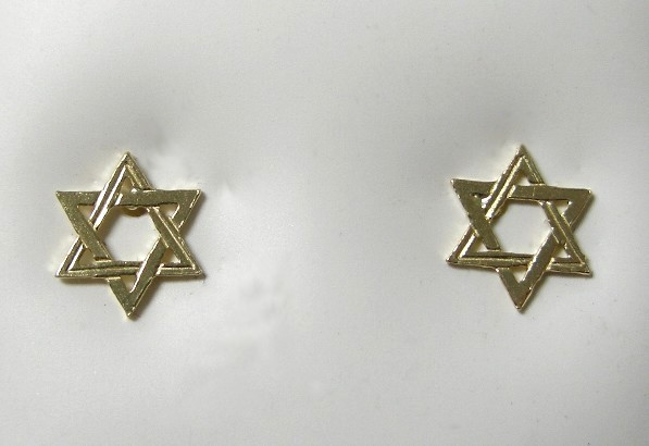 Jewish Star Earrings View Images