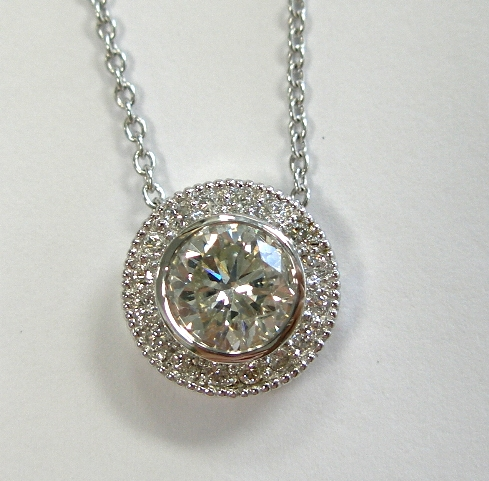Dann's diamond pendant after makeover