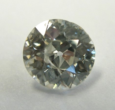 diamond with chipped edges