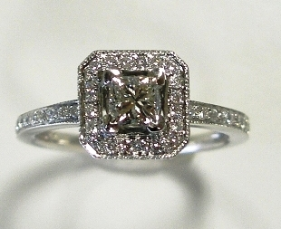 Diana diamond ring after makeover