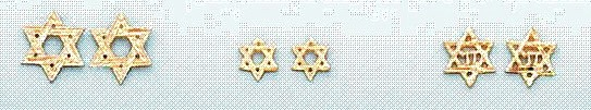 14KJewish Star Stud Earrings