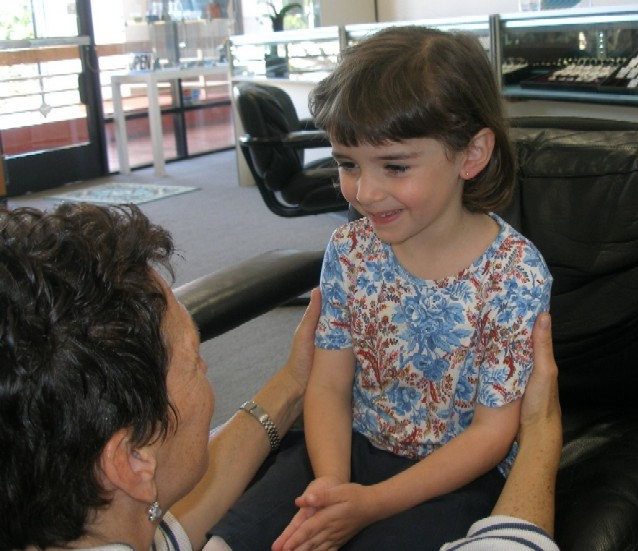 special mom and childs ear piercing at Rothsteins of Beverly Hills