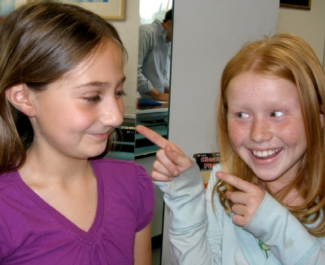 Carly's Ears Pierced with Friend at Rothsteins of Beverly  Hills