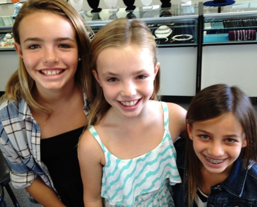 Molly and friends ears pierced at Rothsteins