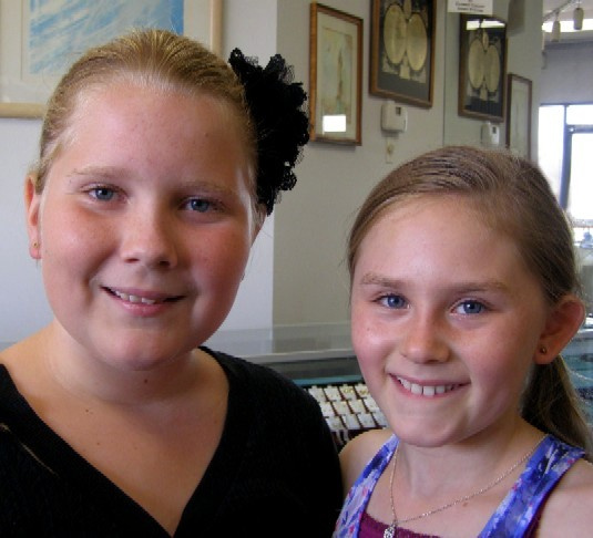 Patience and Hannah-Karen got their ears pierced at Rothsteins